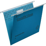 Rexel Crystalfile Classic Suspension Files Manilla V Base 15mm Capacity A4 Blue Box 50