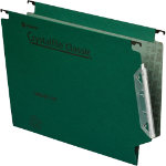 Rexel Crystalfile Classic Lateral Suspension Files Manilla V Base 15mm Capacity W330xH280mm Green Box 50