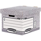 R Kive Storage Boxes Bankers Box A4 Grey White Cardboard