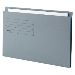 Niceday Square Cut Folder Lightweight Foolscap Blue