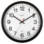Acctim Quartz Heavy Duty Wall Clock 383mm Black