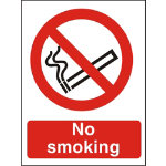 Prohibition Signs No Smoking PVC 150 x 200 mm