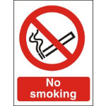 Prohibition Signs No Smoking Self Adhesive Vinyl 150 x 200 mm