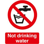 Prohibition Signs Not Drinking Water PVC 150 x 200 mm