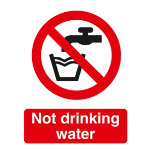 Prohibition Signs Not Drinking Water Self Adhesive Vinyl 150 x 200 mm