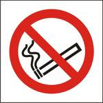 No Smoking Sign 100 x 100mm Rigid PVC