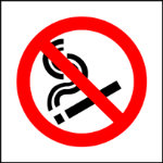 No Smoking Sign 100 x 100mm Rigid PVC