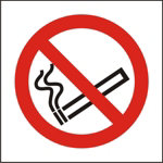 No Smoking Sign 150 x 150mm Self Adhesive Vinyl