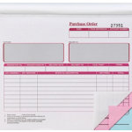 3 Part Purchase Order Books 203 x 178mm