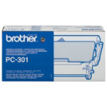 Brother PC301 Black Thermal Fax Cartridge and Ribbon