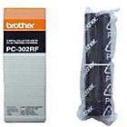 Brother PC302RF Original Black Thermal Transfer Film twin pack PC 302RF