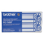 Brother PC74RF Original Black Thermal Transfer Film quad pack PC 74RF