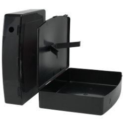 Viking Plastic Box File Black 368 x 79 x 284 mm