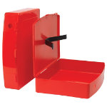 Viking Plastic Box File Red 368 x 79 x 284 mm