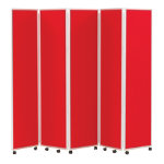 Concertina Display System Room Divider Red 5 Screen 180 cm