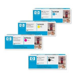 Original HP Q3960 Q3961 Q3962 Q3963A set of four laser toners black cyan magenta yellow HP No 122A