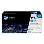 Original HP Q6001A LaserJet cyan toner cartridge HP No 124A