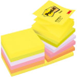 Post It Notes Z Notes in Alternating Colours Assorted 76 x 76mm Pack 12