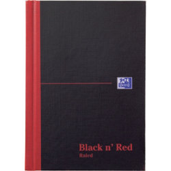 Black N Red 192 Page Manuscript Book Black A6