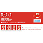 Royal Mail 1st class postage stamps 100 per pack