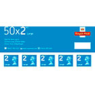 Royal Mail 2nd class postage stamps for large letters 50 per pack