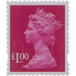 Royal Mail Postage pound1 Stamps 50 Per Pack