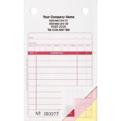 Ease Apart Personalised Retail Sale Register Sets Inc Vat 3 Part 165 x 102 mm 500 Sets Per Pack