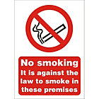 Prohibition No Smoking Entrance Sign A5 X 2mm Rigid Pvc