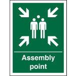 Safety Procedure Sign Fire Assembly Point PVC 200 x 150 mm