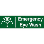 First Aid Signs Emergency Eye Wash Self Adhesive Vinyl 190 x 45 mm