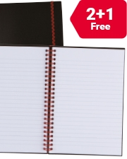 From €7.99 Black N Red A5 Ruled Notebook