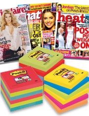 Free Magazine subscription With Post-it Super Sticky notes
