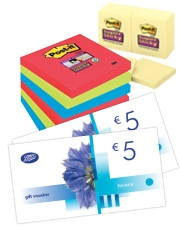€10 Boots voucher Free Post-it Super Sticky Notes