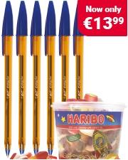 Free Haribo Starmix Sweets Packs of Bic Cristal pens