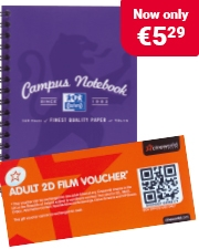 Free Cinema Ticket Oxford Campus A4 Notepads