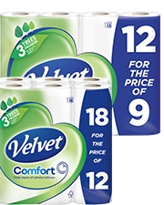 As low as £4.99 Velvet Toilet Tissue
