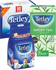 From £2.19 Tetley Tea bags