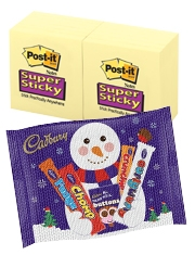 Free Cadbury Selection Post-it Super Sticky Notes
