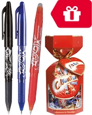 Free Box of Celebrations Packs of 12 Pilot Frixion Erasable Rollerball Pens