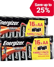 From £3.99 Energizer Batteries Alkaline Power