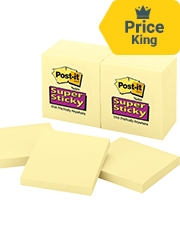 From 84p per each pad (12 pack) - Post-It Super Sticky Notes