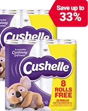As low as £9.99 Cushelle Toilet Rolls