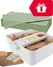 Free Bread-Dipset Vacu Vin Hand Towels Niceday