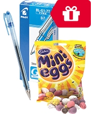 Free Cadbury Mini Eggs Packs Of Selected Pilot Pens