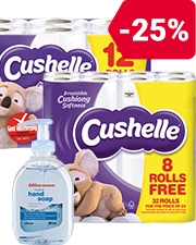 From £0.79 Toilet Paper and Soap
