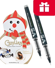 Free Chocolate Snowman Packs of 12 Pilot V5 or V7 Pens