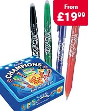 Free Champions Sweet Tin Pilot Frixion Erasable Pens