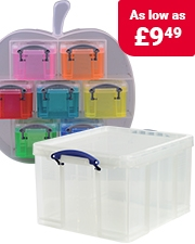 Free Shape Organiser Really Useful Plastic Storage Boxes