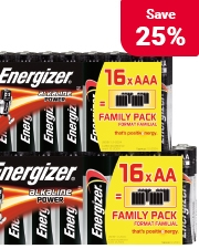 Now only £4.99 Energizer Batteries