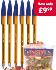 Free Haribo Starmix Sweets Packs of Bic Cristal pens
